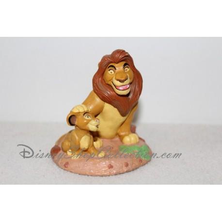 Figurine Mufasa et Simba CLASSICS DISNEY STORE Le roi lion pvc 9 cm