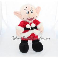 Peluche Noël Simplet DISNEY STORE nain Simplet en Père Noël Blanche-neige 40 cm