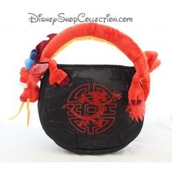 Sac à main Mushu DISNEYLAND PARIS Mulan noir rouge peluche 35 cm