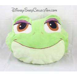 Coussin tête Tiana DISNEY STORE La Princesse et la grenouille vert 33 cm