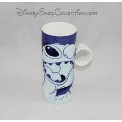 Mug haut Stitch DISNEY STORE Lilo et Stitch bleu 15 cm
