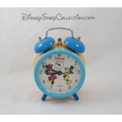 Alarm clock Mickey Minnie DISNEY AVRONEL vintage blue yellow