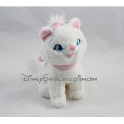 Peluche chat Marie DISNEY STORE blanc noeud rose Les Aristochats 20 cm
