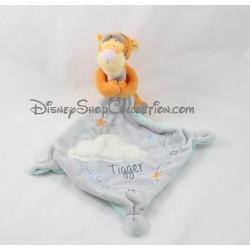 Doudou Tigrou DISNEY NICOTOY nuage blanc mouchoir gris Disney
