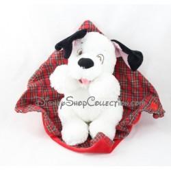 Peluche chien dalmatien DISNEYLAND couverture écossaise 101 dalmatiens