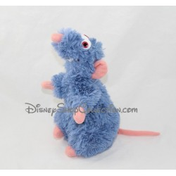 Peluche Rémy rat DISNEYLAND PARIS Ratatouille Disney bleu 20 cm