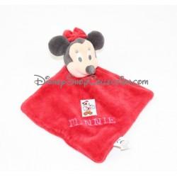 Doudou plat Minnie DISNEY NICOTOY rouge Noël 23 cm