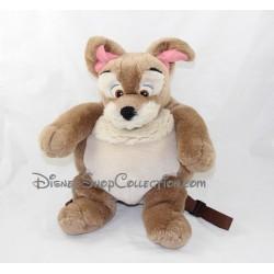 Mochila peluche perro vagabundo DISNEY belleza y la marrón 35 cm Hobo