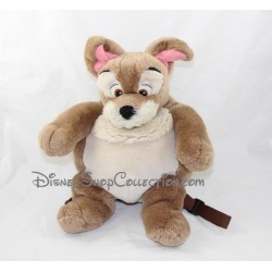 Sac à dos peluche Clochard chien DISNEY La belle et le clochard marron 35 cm