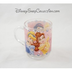 DISNEY glass mug Cup Princess Jewels princesses