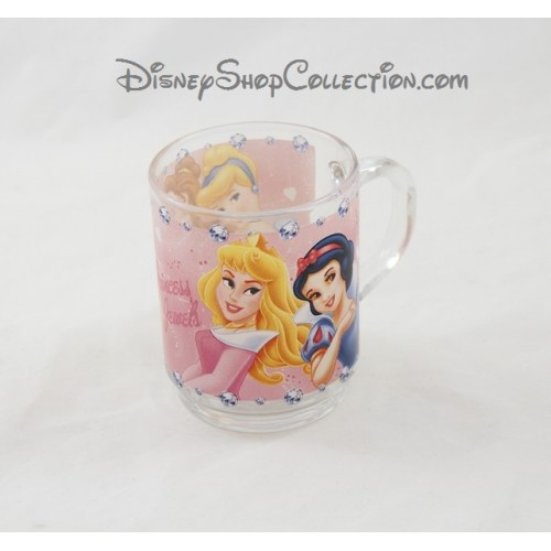 mug en verre disney princesses tasse princess jewels. Black Bedroom Furniture Sets. Home Design Ideas