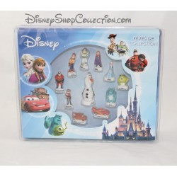 Coffret fèves de collection DISNEY 11 fèves en porcelaine dont 1 figurine collector