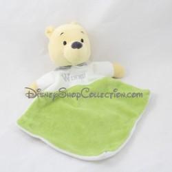 Doudou plat Winnie l'ourson DISNEY NICOTOY losange vert blanc Simba Toys