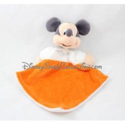 Doudou plat Mickey DISNEY NICOTOY losange orange blanc Simba Toys