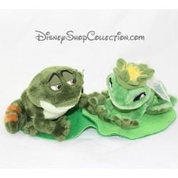 Peluche La princesse et la grenouille DISNEYLAND PARIS Tiana et Naveen mariage 35 cm