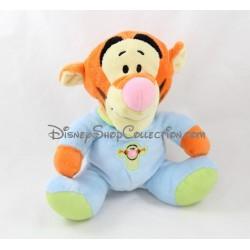 Doudou Tigrou NICOTOY pyjama bleu vert bébé Disney 23 cm