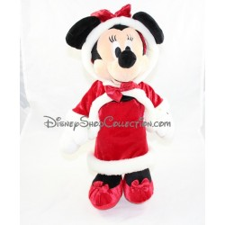 Peluche Minnie DISNEY STORE Noël robe manteau rouge 42 cm