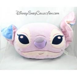 Coussin tête Stitch et Angel DISNEY STORE Lilo et Stitch bleu rose 50 cm