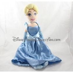 Poupée peluche Cendrillon DISNEY STORE robe bleue Cinderella 53 cm