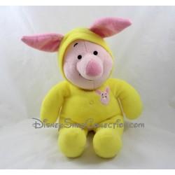 Peluche Porcinet DISNEY pyjama jaune cochon 38 cm
