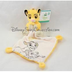 Doudou mouchoir lion Simba DISNEY NICOTOY Le roi lion My Little King 13 cm