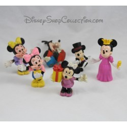 Lot de 6 Figurines DISNEY Mickey Minnie Dingo vintage pvc
