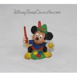 Figurine vintage Mickey BULLY peignant des oeufs de pâques 1985