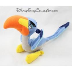 Peluche oiseau Zazu DISNEYLAND PARIS Le roi lion bleu 34 cm