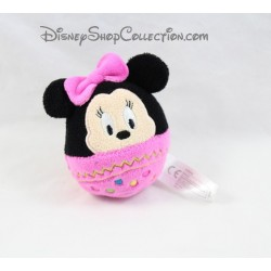 Peluche balle Minnie DISNEY NICOTOY oeuf rose noeud 9 cm