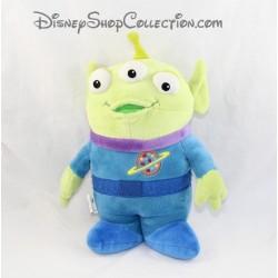 Peluche extraterrestre alien DISNEYLAND PARIS Toy Story 3 vert bleu 30 cm