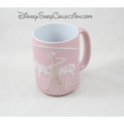 Mug DISNEYLAND PARIS Tour Eiffel rose blanc tête de Mickey 12 cm
