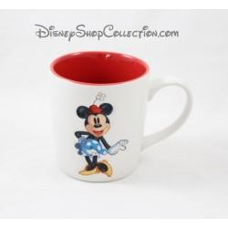Mug mat Minnie DISNEYLAND PARIS blanc et rouge tasse en céramique
