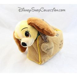 Peluche chien DISNEYLAND PARIS La Belle et le Clochard Lady sac Disney