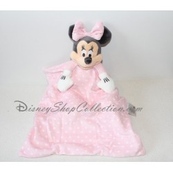 Doudou Minnie DISNEY STORE layette pink polka dots white cover 36 cm