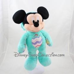 Peluche Mickey DISNEY STORE pâques lapin vert bleu année 2015