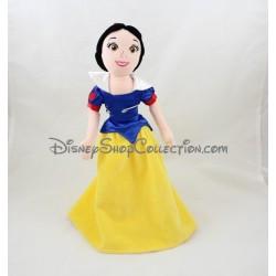Poupée peluche Blanche Neige DISNEY NICOTOY robe jaune bleu 37 cm