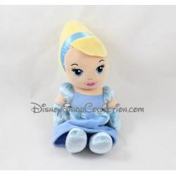 Poupée peluche Cendrillon DISNEY NICOTOY robe bleue Cinderella 22 cm