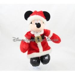 Peluche Mickey DISNEYLAND PARIS noël costume Père Noël 25 cm