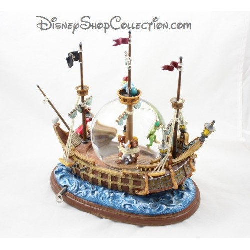 Snowglobe musical peter pan disneyland bateau snow globe - Bateau pirate peter pan ...