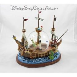 Snowglobe musical Peter Pan DISNEYLAND bateau snow globe boule à neige 30 cm