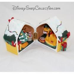 Figurine résine niche Pluto DISNEYLAND PARIS Noël chien Mickey Disney