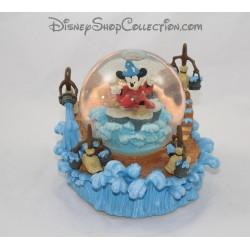 Snow globe musical Mickey DISNEY Fantasia l'apprentie sorcier boule à neige 19 cm