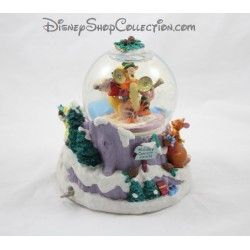Snow globe musical DISNEY Winnie et ses amis Noel Holiday Consert Tonite boule à neige 21 cm