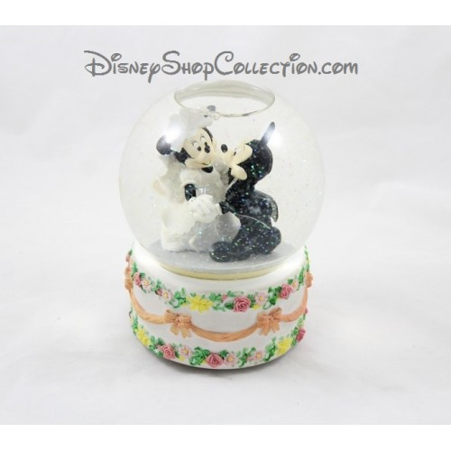 Snow globe musical mickey minnie disney mariage wedding cake boule - Boule a neige collectionneur ...
