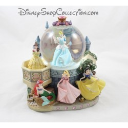 Snow globe musical Princess DISNEY Cinderella, Belle, Ariel, Aurora, Blanche Neige Castle ball snow 24 cm