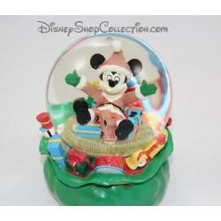 Snow globe musical hotte du père noel Mickey DISNEY sac à jouet boule à neige Christmas 16 cm