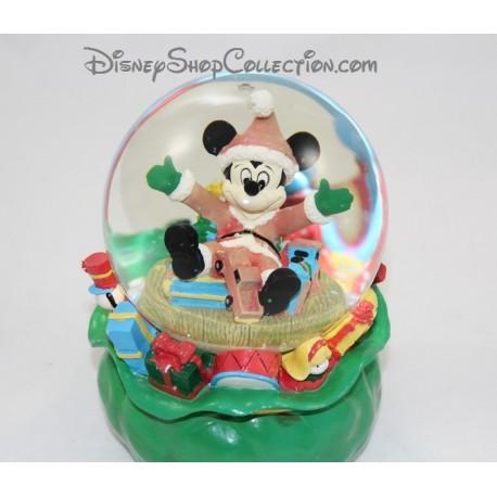 Snow globe musical hotte du p re noel mickey disney sac jouet bou - Boule a neige collectionneur ...