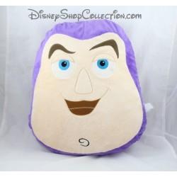 Coussin tête Buzz l'éclair DISNEY Toy Story beige violet 40 cm