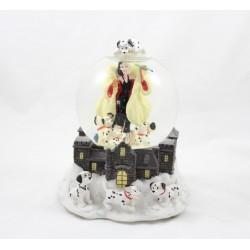 Snow globe musical Cruella de Vil DISNEY Les 101 dalmatiens boule à neige
