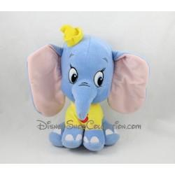 Peluche éléphant Dumbo DISNEY Fête foraine grosse tête tee shirt jaune 26 cm